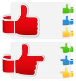 Vector set of thumb up signs
