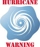 Hurricane warning icon on white vector