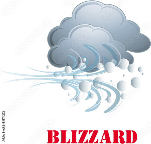 Blizzard vector icon