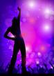 Dancing boy in the nightclub