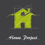Fototapety Logo house project # Vector