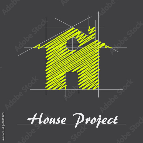 Logo house project # Vector