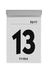 Abreißkalender zeigt Freitag den 13. April