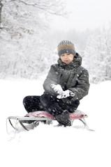 boy on a sled