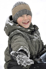 Outdoor portrait of a boy