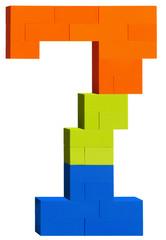 Plastic block number seven