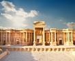 Leinwanddruck Bild - Ancient Roman time town in Palmyra, Syria.