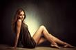 sensual barefoot woman
