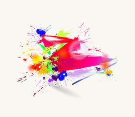 abstract drawing by brush
