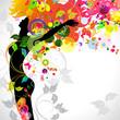 Fototapeten,floral,mädchen,hintergrund,schönheit