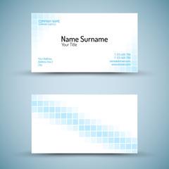 Set of modern vector business card template