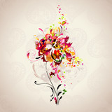 Fototapety background with abstract flower