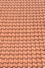 Red roof clay tiles