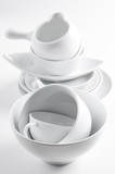 white crockery and kitchen utensils poster