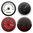 Set of speedometer. Vector illustration.