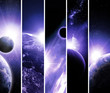 collage of 5 pictures with planets