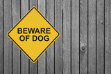 """Beware of Dog"" Sign"