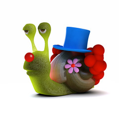 3d Snail is the clown of the family