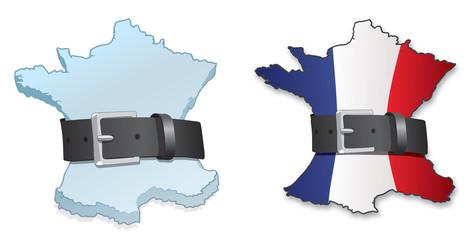 les français se serrent la ceinture