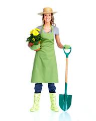 Young gardener woman.