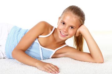 portrait of pretty teenage girl