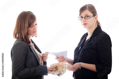 Corrupted business women bribe