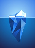 Stylized image of frozen diamond in iceberg shape