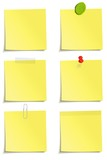 Different methods of attachment of the notes poster