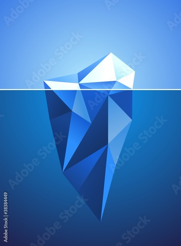 Stylized image of frozen diamond in iceberg shape