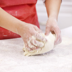 dough and hands closeup
