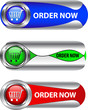 Metallic order now button/icon set