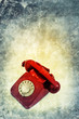 red telephone print