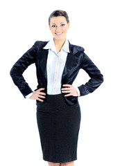 Beautiful business woman nice smiles. isolated on a