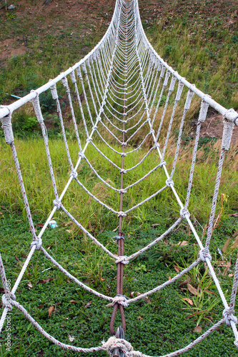 the white rope bridge