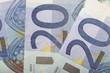 Three Twenty euro bills