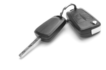 A studio shot of car keys