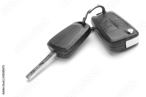 A studio shot of car keys