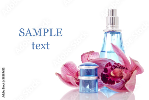 Orchid Scentsed Perfume with Space for Text