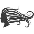 Frau, Haare, s/w 2