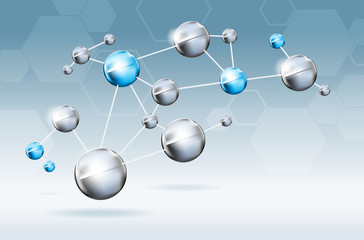 Abstract molecules background. Vector EPS10 file.