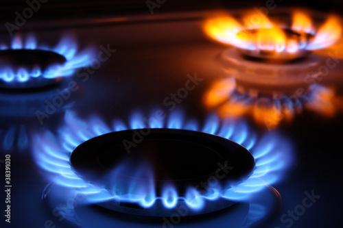 Leinwanddruck Bild Gas flames