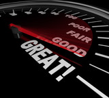 Great Words on Speedometer Performance Evaluation Review poster