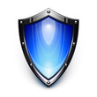 Blue security shield