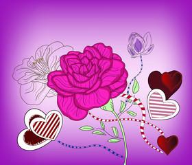 rosa e cuori