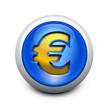 Glassy button Euro