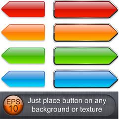 High-detailed modern buttons.