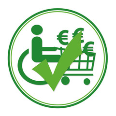 Logo Barrierefrei (Einkaufen)