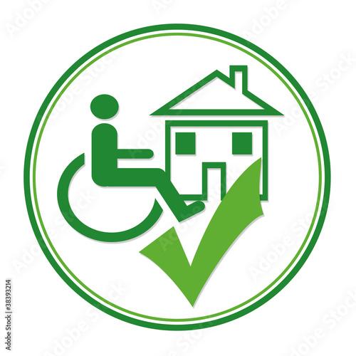 Logo Barrierefrei (Wohnen & Mieten)