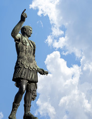 Bronze statue of emperor Caesar Augustus  Rome, Italy