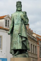 Statue of Don Pedro IV in Cascais in Portugal